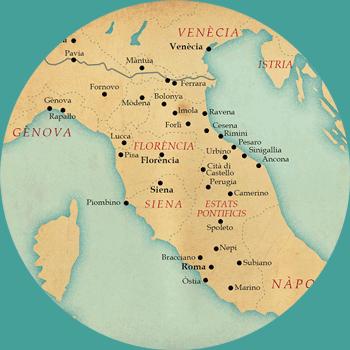 Itineraris borgians a la Corona d'Aragó i a Itàlia.