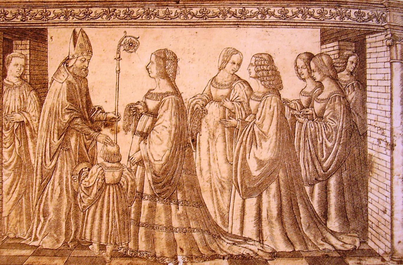 Presentació d'Hèrcules II a sant Maureli per part de Lucrècia Borja (1512).