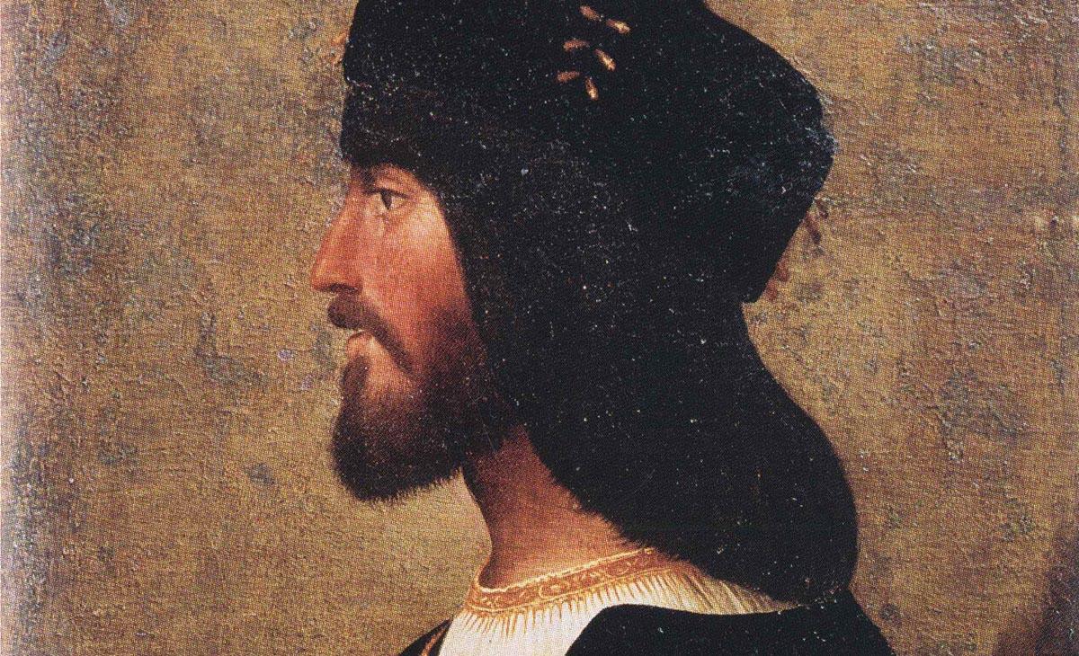Suposat retrat de Cèsar Borja al palau Venècia de Roma.