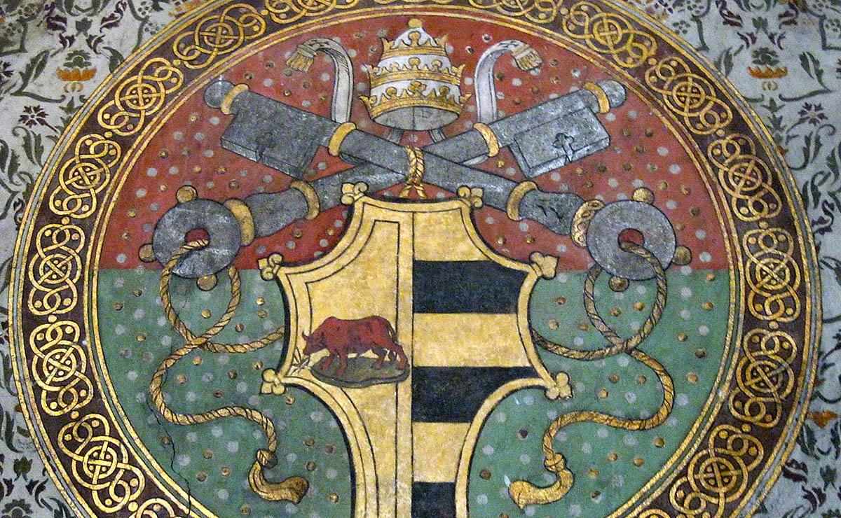Escut d'armes d'Alexandre VI als apartaments Borja del Vaticà