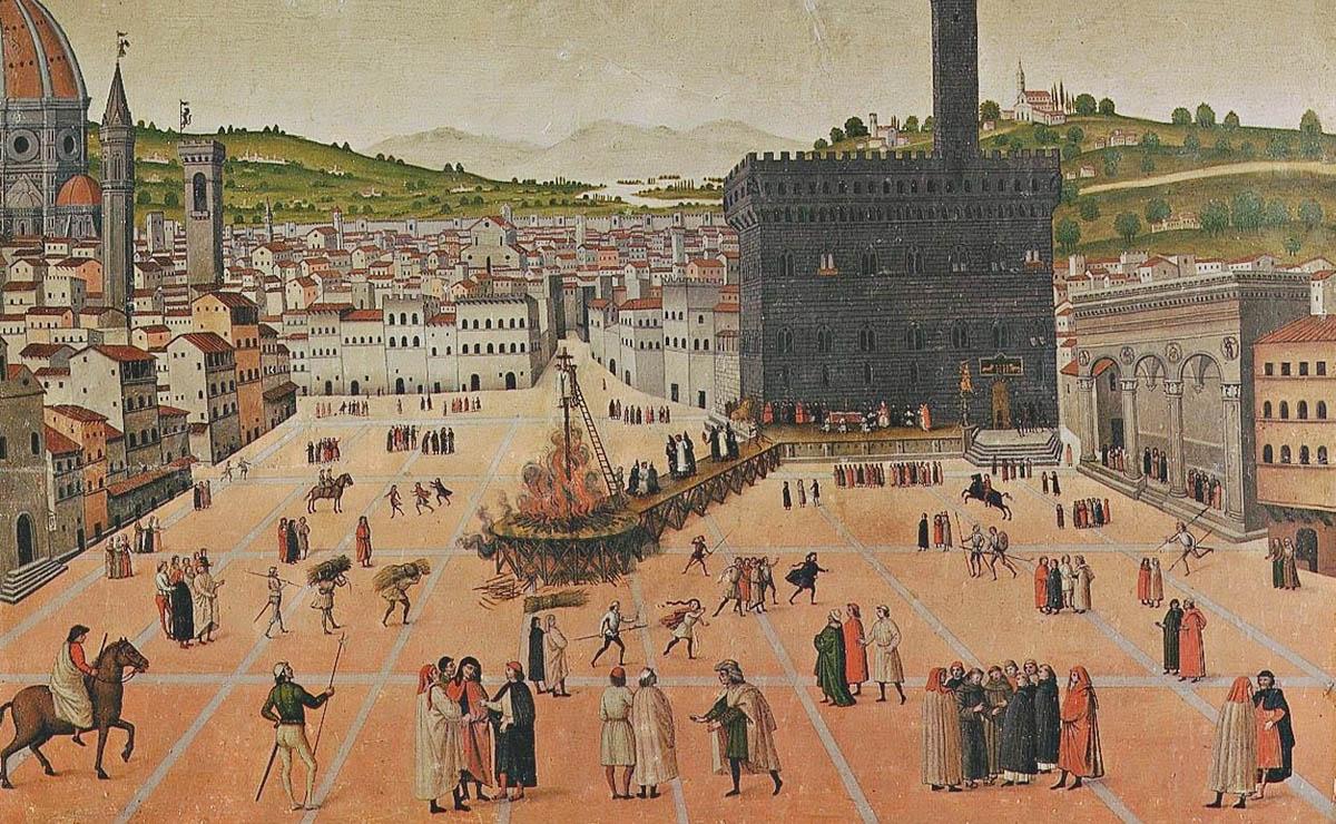 Execució de Savonarola per la forca i la foguera el 1498