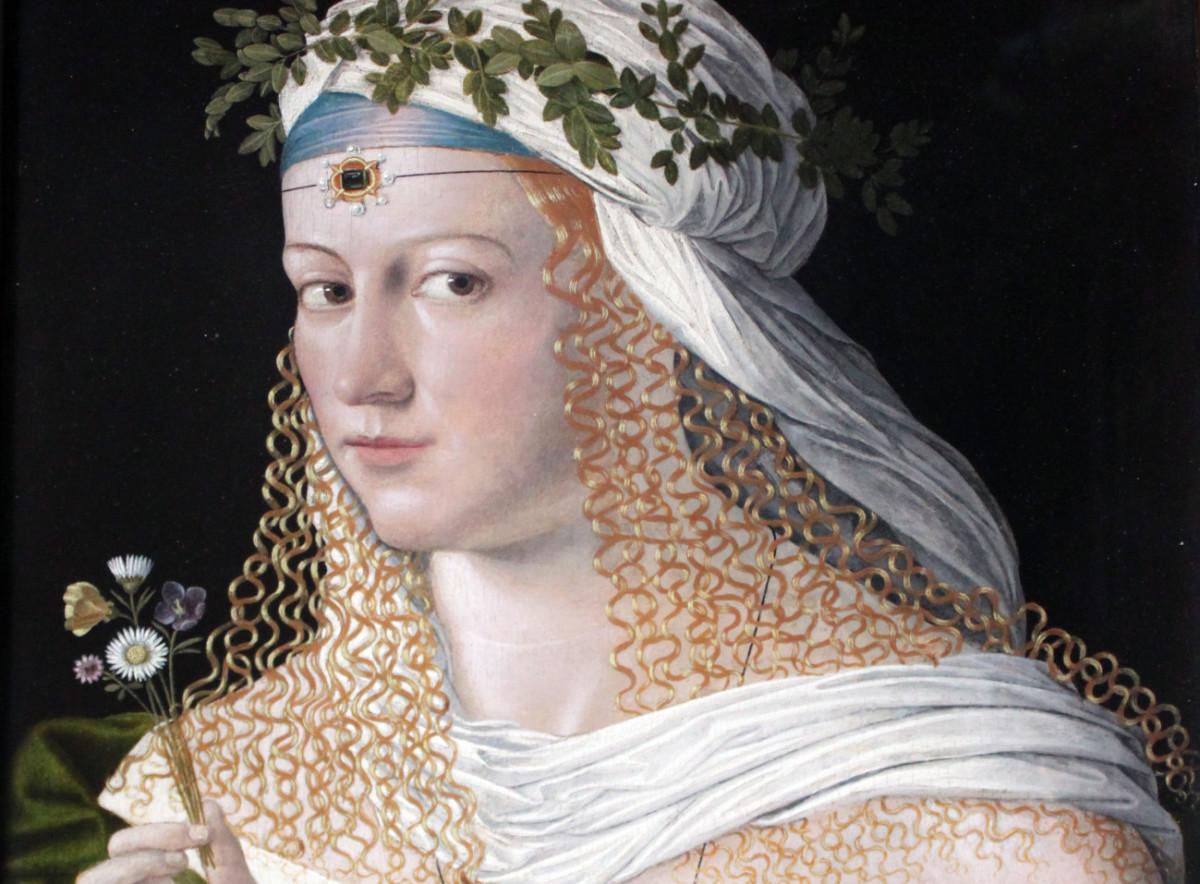 Retrat d'una cortesana, possiblement Lucrècia Borja, coma a Flora, per Bartolomeo Veneto.