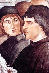 Botticelli, probable retrat del cardenal Roderic de Borja. Capella Sixtina, vers 1483.