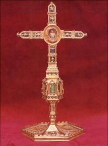 Lignum crucis de Calixt III. Museu de la col·legiata de Xàtiva.