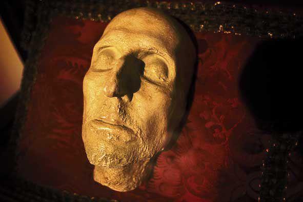 Màscara mortuòria de Francesc de Borja. Foto: Natxo Francés.