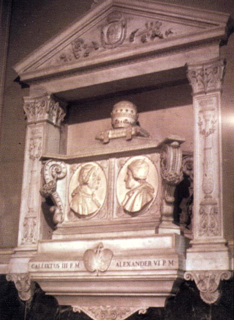 Sepulcre dels papes Borja (Santa Maria de Montserrato).