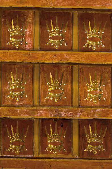 Saló de Corones (detall del sostre). Gandia, palau ducal. Foto: Natxo Francés.