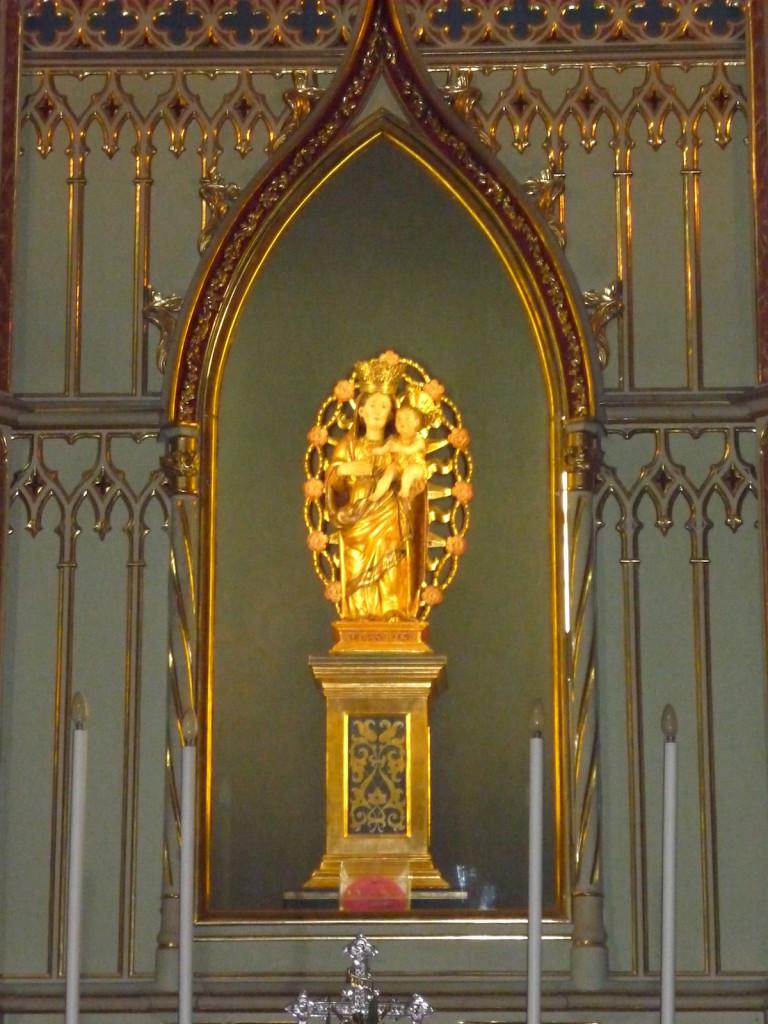 Altar de la Mare de Déu del Roser, donació de Francesc de Borja al convent de Santa Creu