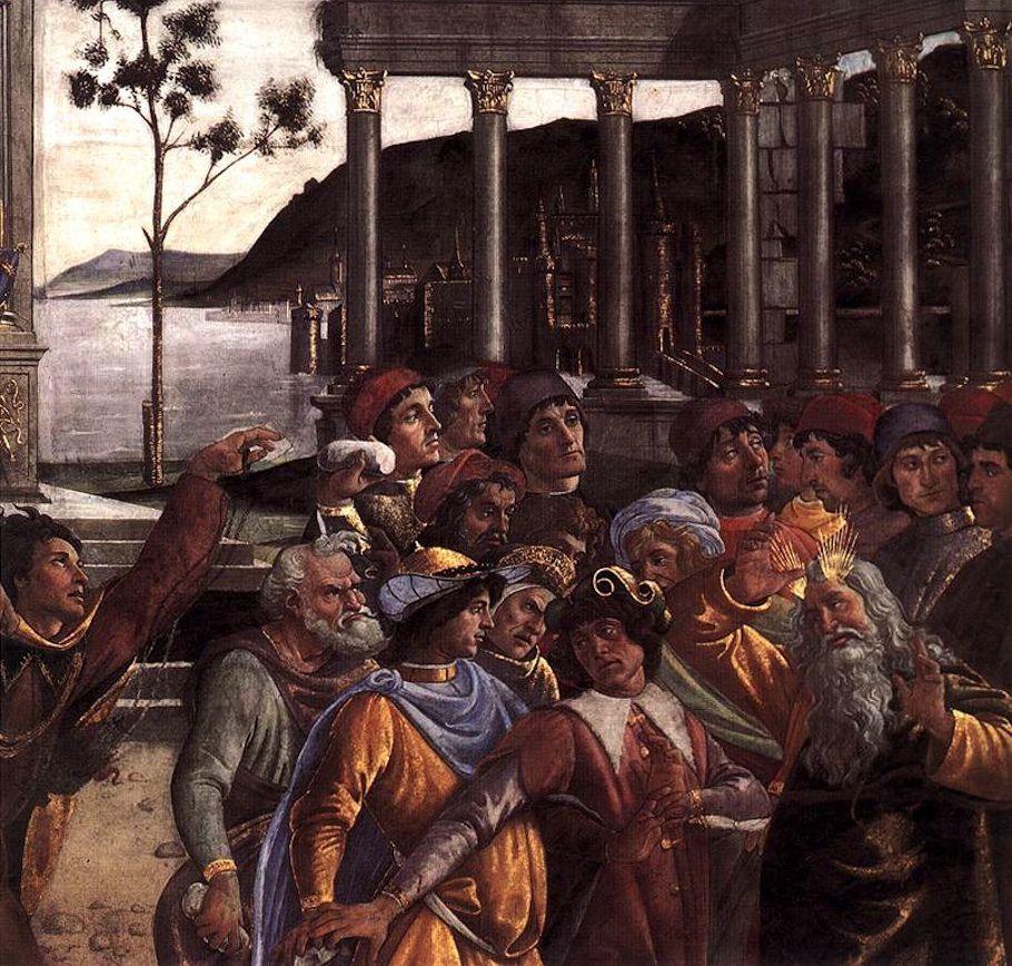 Botticelli, Càstig dels rebels (detall). Capella sixtina.
