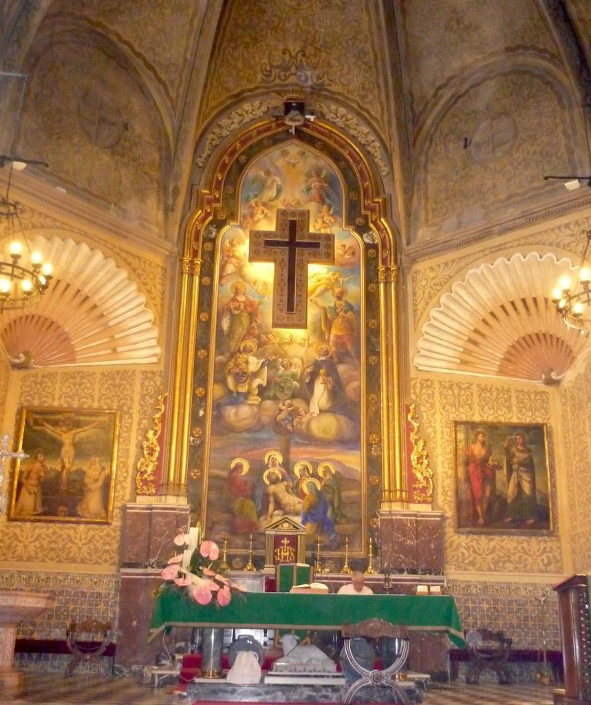 Retaule de l'altar major de la Santa Creu
