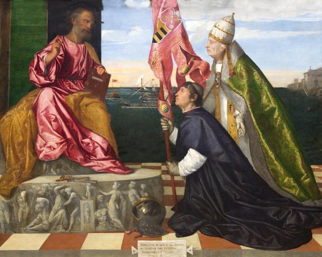 Tiziano, Alexandre VI presenta Jacopo Pesaro a sant Pere
