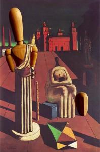 El castell de Ferrara segons Giorgio De Chirico (Le Muse inquietanti, 1916), Milà, col·lecció Mattioli.