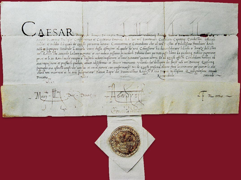 Salconduit de Cèsar a Leonardo.