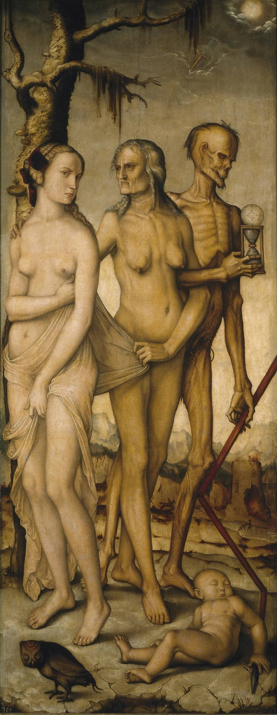 Hans Baldung Grien, Les edats i la Mort, Museu del Prado (Wikimedia Commons)