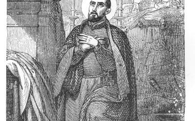 Sant Francesc de Borja en un gravat popular