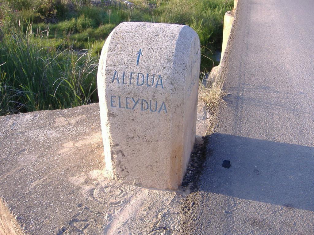 Piló de pedra: Alèdua.
