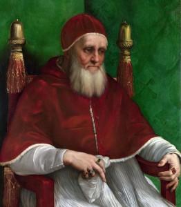 Papa Juli II, pintat per Rafael