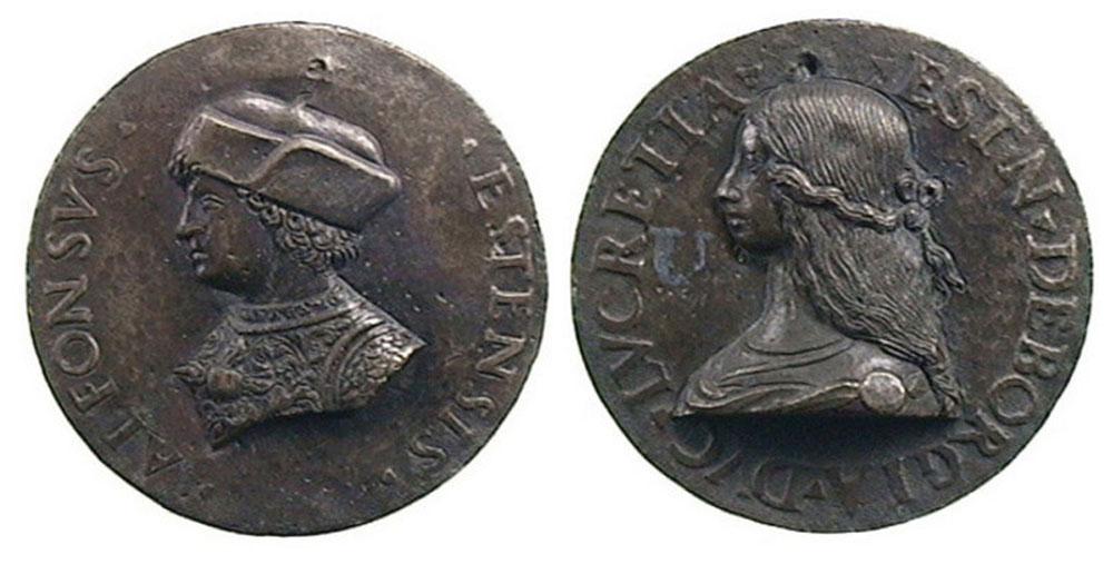 Medalla dels ducs Alfons I i Lucrècia Borja