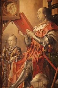 Federico da Montefeltro amb el seu fill guidobaldo de Pedro Berruguete