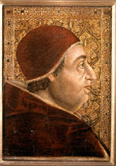 Alexandre VI, atribuït a Roderic d'Osona. Pinacoteca dels Museus Vaticans, vers 1495.