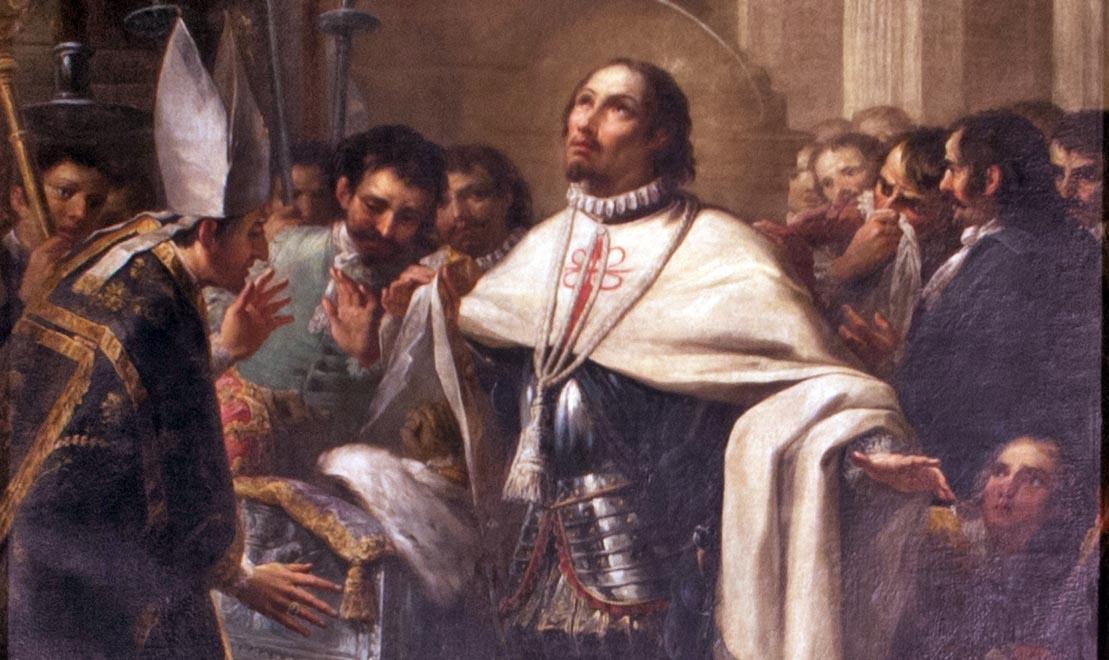 Sant Francesc de Borja a Granada per Salvador Maella. Catedral de València