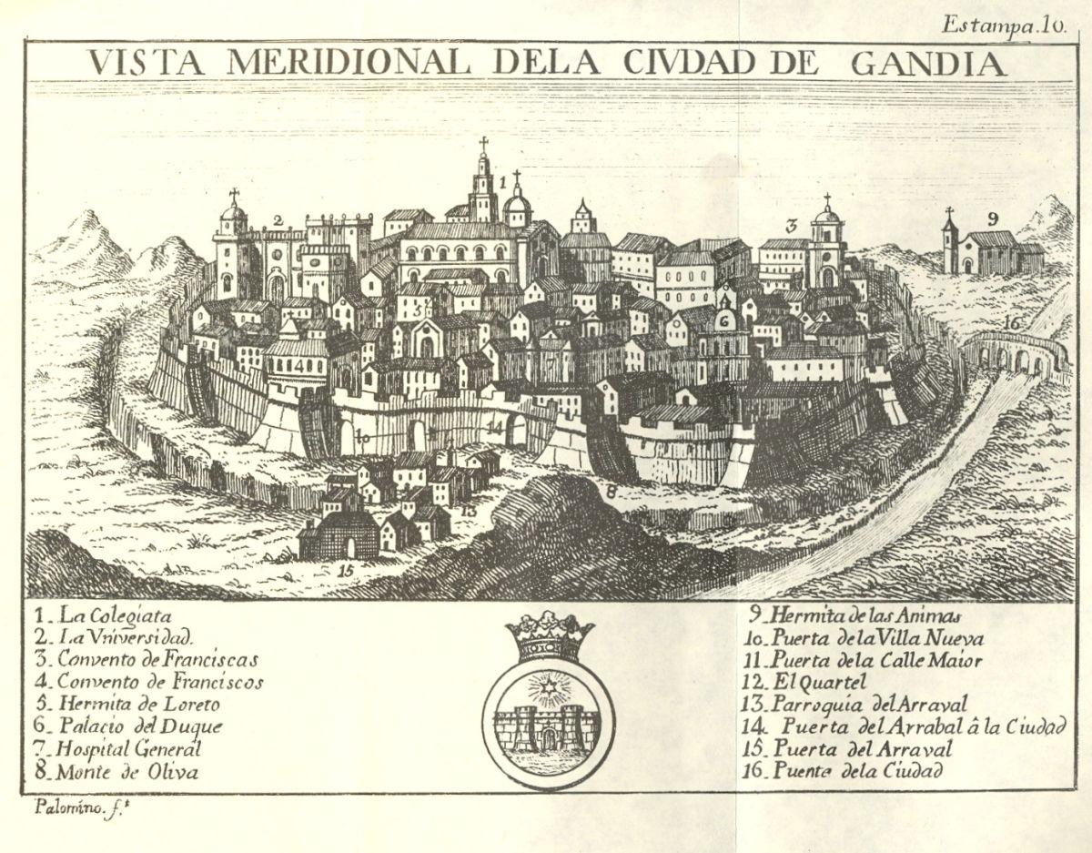 Gandia, la ciutat antiga.