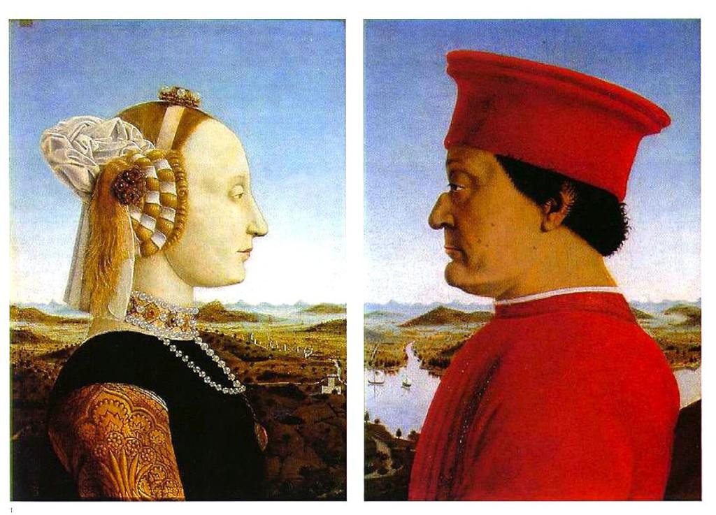 Els Montefeeltro, ducs d'Urbino.