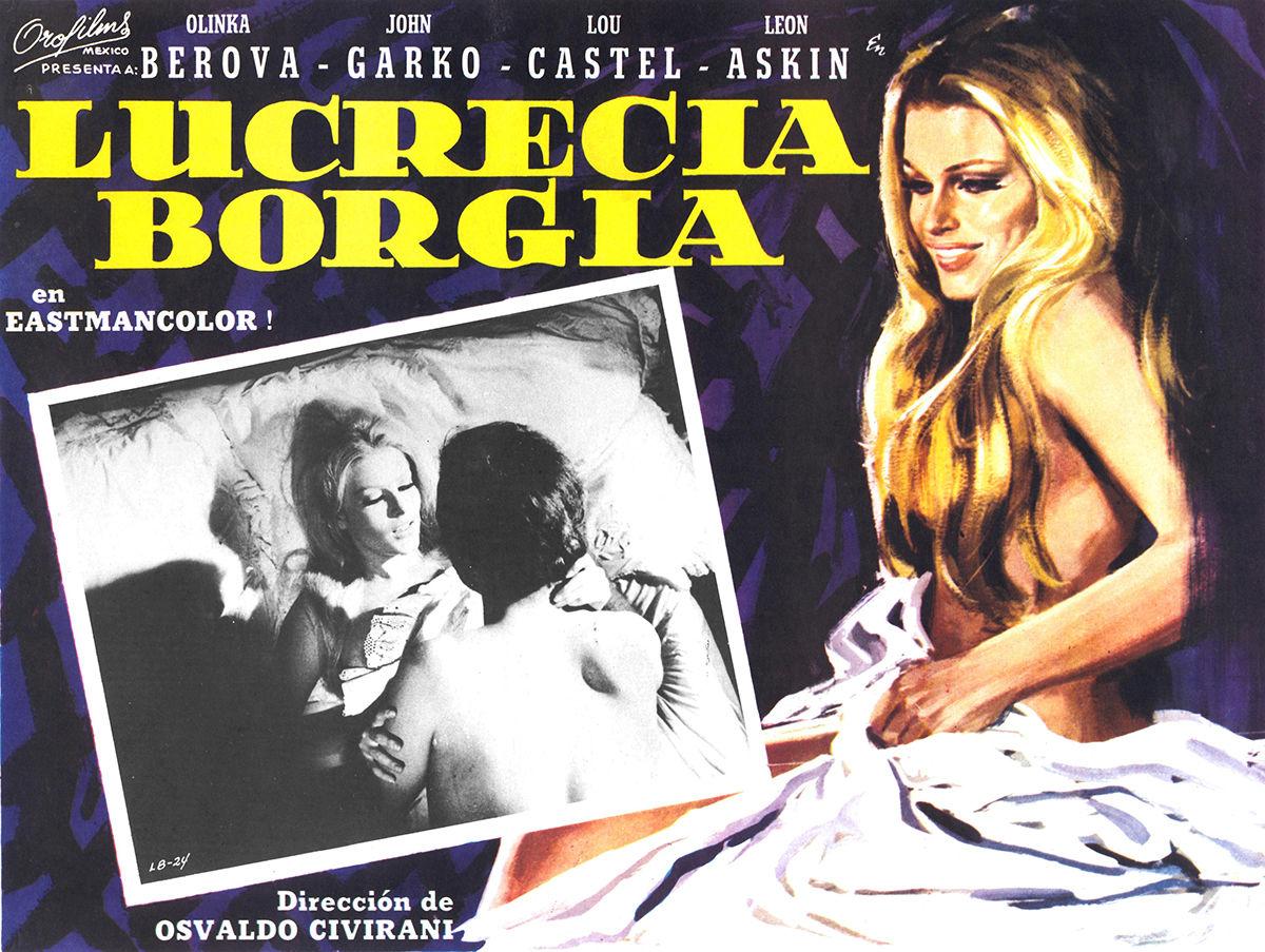 "Poster de ""Lucrècia Borja, L'amant del diable"" (Lucrezia Borgia, l'amante del diavolo) (1968, Itàlia / Àustria)"