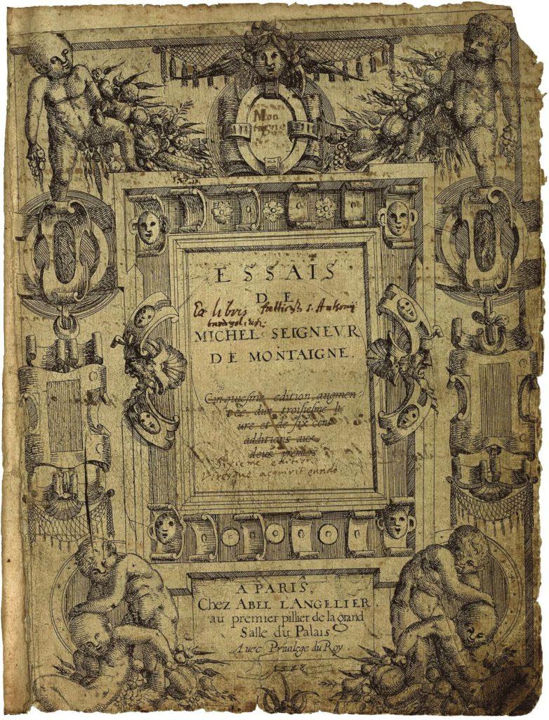 Montaigne, Essais, París, 1580