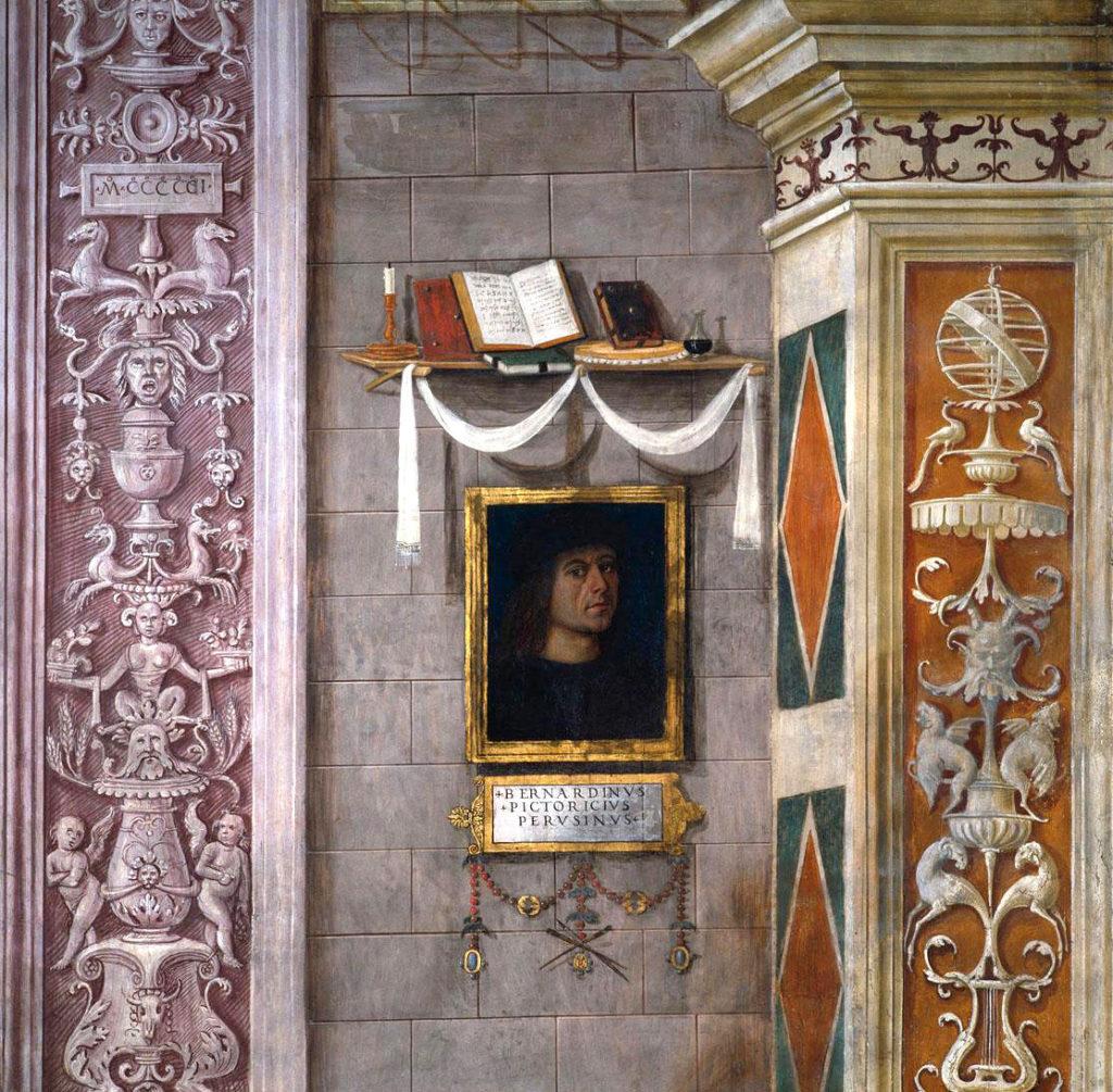 Pintoricchio, L'Anunciació (detall) - Santa Maria Maggiore, Spello
