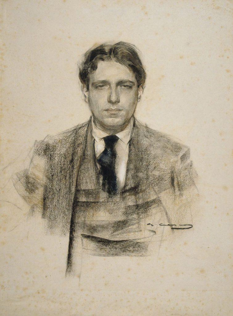 Ramon Casas, Eugeni d'Ors (Barcelona, MNAC). Font: Wikimedia Commons.