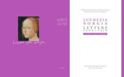 Es presenta una edició crítica de l'epistolari de Lucrècia Borja: Lettere di Lucrezia Borgia (1494-1519)